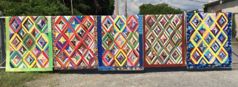 Tyree charity quilts on fence