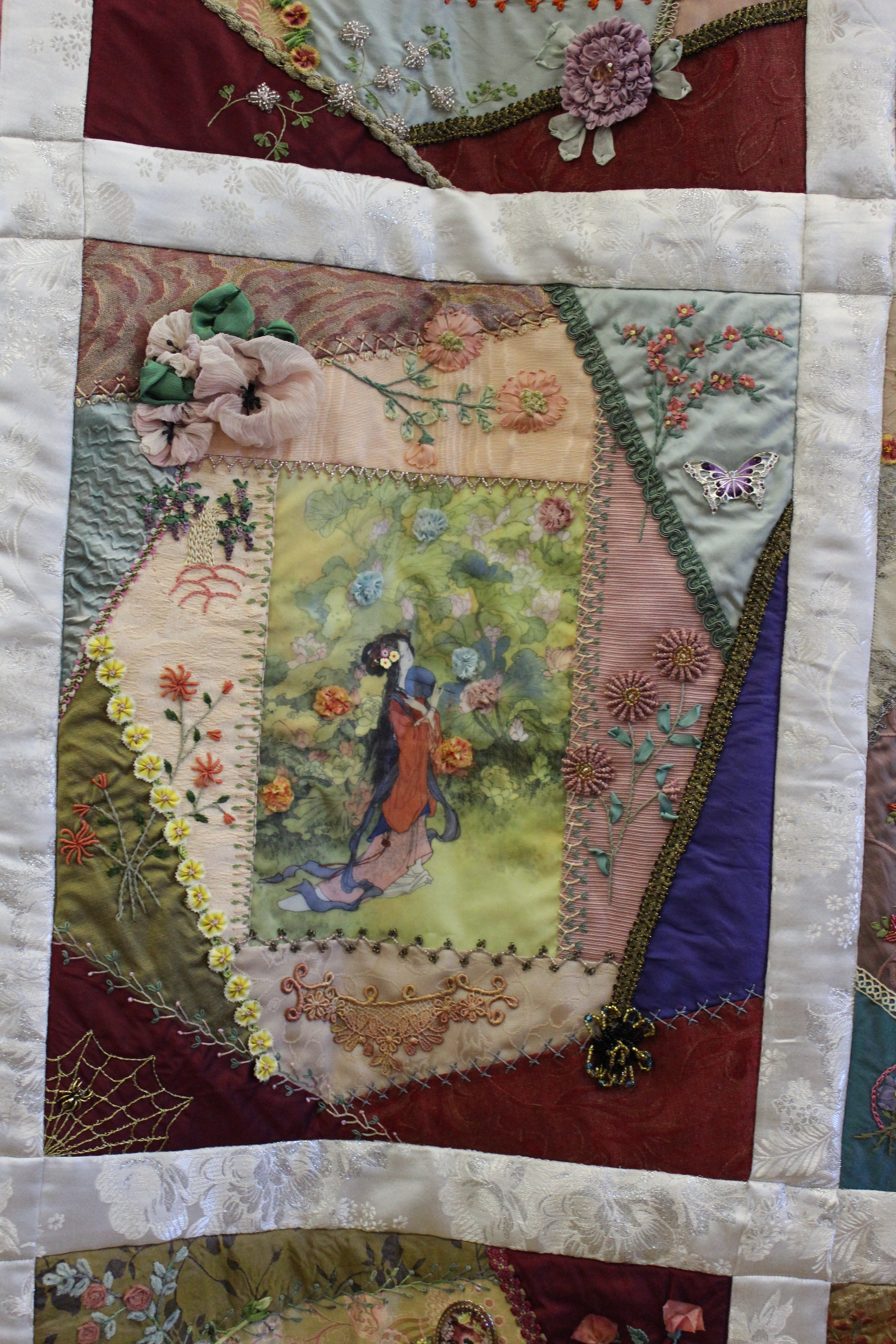 Quilting Guild Program Ideas : September 2015 Guild Program: The Mechanics of Crazy Quilting by Avis Withers (http://www ...