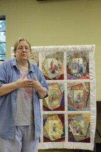 Avis Withers with crazy quilt