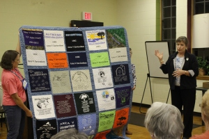 Acceptance of quilt by Blue Ridge Soil and Water Conservation District Representative