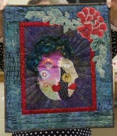 Diana Van Hise - Self-Portrait quilt
