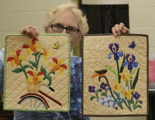 Judi Byrd - Biking in Spring & Spring Power quilts