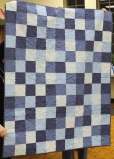 Cathy Russel - Blue Ombre lap quilt