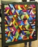 Claire Hightower - Strip Pieced Triangles quilt