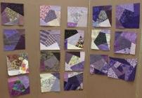 Purple Crazy blocks turned in by members
