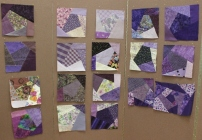 Purple Crazy blocks turned in by members