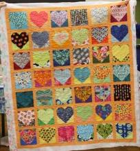 Linda Greene - Modern Hearts quilt