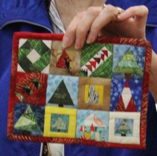 Kathy Martin - Christmas Sampler mini quilt