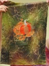 Linda Badger - Pumpkin embroidery