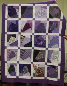Bobbie Badger - Purple Crazy quilt
