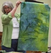Donna Campbell - Snow dyed fabric