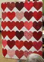 Red Hearts quilt for victims of The Pulse nightclub shooting.