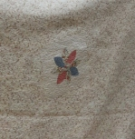 Donna Watts - flower motif on back of quilt