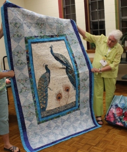 Ginny Vaden - Peacock quilt.