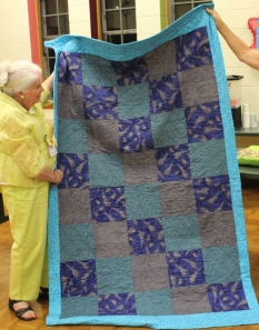 Ginny Vaden -back of Peacock quilt.