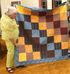 Ginny Vaden - back of Fisherman's quilt.