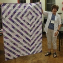 Ann Weaver - Lavender and grey modern quilt.