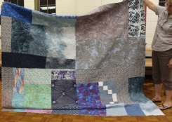 Susan Kraterfield - Blue Scraps Quilt back