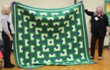 Dawn Schaben - Green and purple quilt.