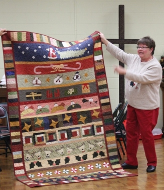Leslie Sherwood - Twelve Days of Christmas quilt.