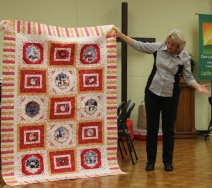Cathy Russell - Rudolph the Red-Nosed Reindeer quilt.
