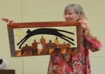 Judy Coffman – Leaping Cat Over PumpkinsQuilt