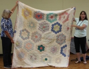 Kathy Wickham - Antique Grandmother's Flower Garden Quilt