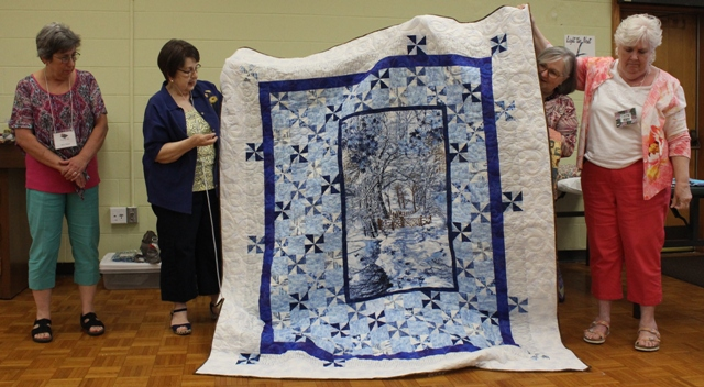 Tam McBride – Winter Dream quilt – created with help from Ann Ware