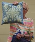 Judi Byrd – Pillow made using Faux Hawaiian Applique StencilTechnique