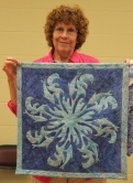 Ann Weaver - Quilt made using Faux Hawaiian Applique Stencil Technique