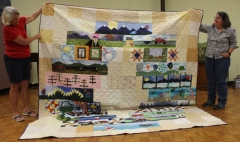 Victoria Person - Row by Row Quilt, top half