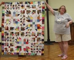 Kathy Martin - Bear Paw Scrap Quilt