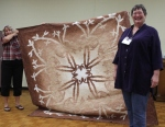 Susan Kraterfield – 2017 Starry Eyed Monochromatic Challenge – Hawaiian Applique and OmbreFabric