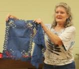 Nancy Oldham - Hand dyed indigo doilies
