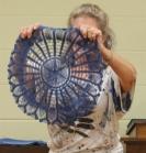 Nancy Oldham - Hand dyed indigo doilie