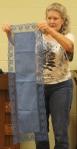 Nancy Oldham – Hand dyed indigo tablerunner