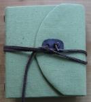 Kristin Farwig – Fabric covered travel journal  – made at John C. Campbell FolkSchool