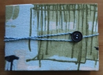 Kristin Farwig – Fabric covered needle book  – made at John C. Campbell FolkSchool