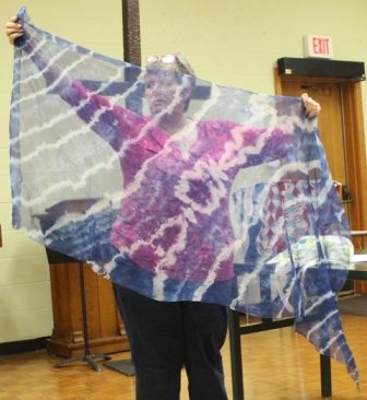 Bonnie Scott - Indigo Dyed Shibori