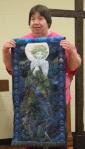 Linda Badger – Showing Barbara Badger's last quilt – 'Lady'