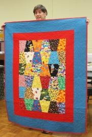 Vickie Kuhlman - 'Tumbling Blocks' comfort quilt